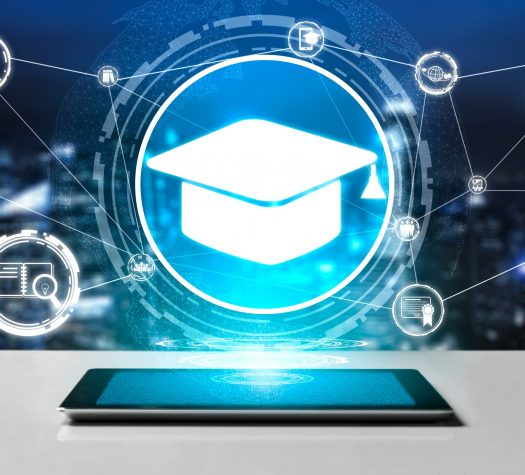 E-learning for Student and University Concept