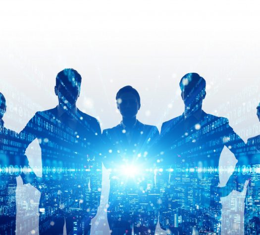 Global communication network concept. Digital transformation. Group of businessperson. Diversity. Human resources.
